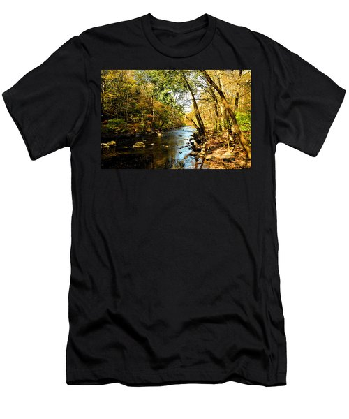 Men's T-Shirt (Slim Fit) featuring the photograph Musconetcong River by Brian Hughes