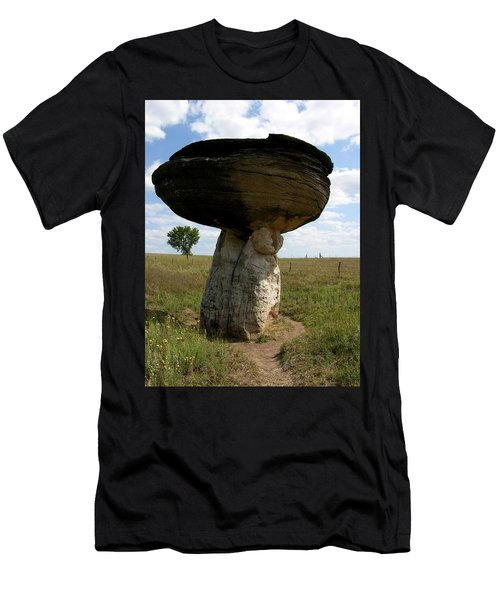 Mushroom Rock Men's T-Shirt (Athletic Fit)