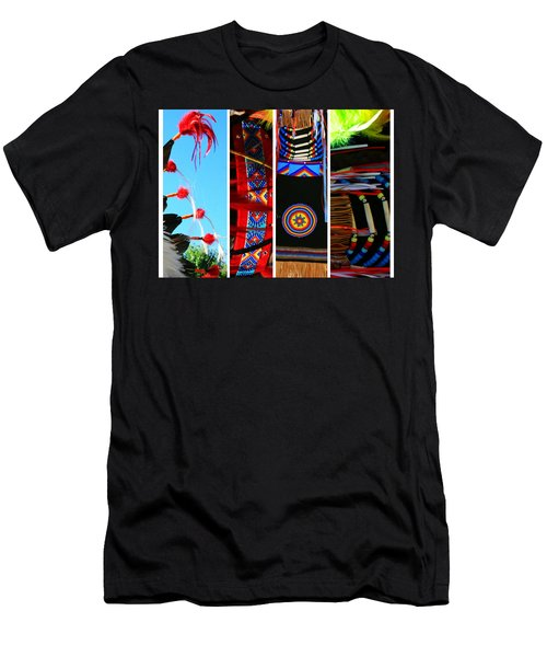 Slices Of Native American Heritage Men's T-Shirt (Slim Fit) by Toni Hopper