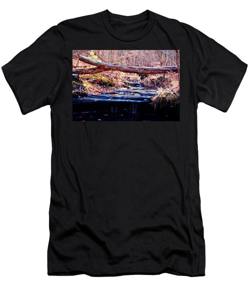 Men's T-Shirt (Slim Fit) featuring the photograph Natural Spring Beauty  by Peggy Franz