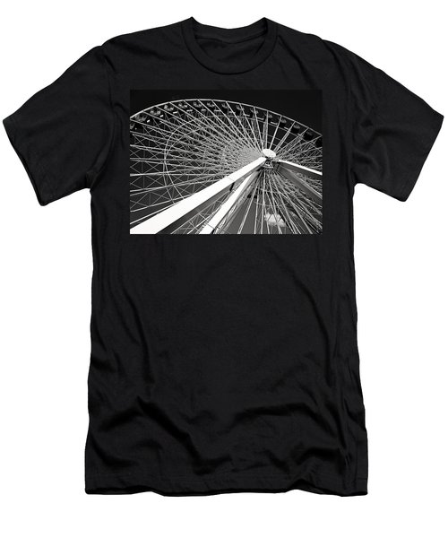 Navy Pier Ferris Wheel Men's T-Shirt (Athletic Fit)