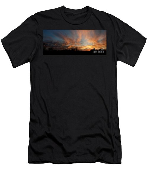 Nebraska Sunset Men's T-Shirt (Athletic Fit)