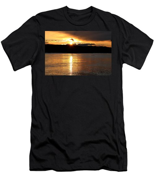 Men's T-Shirt (Slim Fit) featuring the photograph Nebraska Sunset by Elizabeth Winter