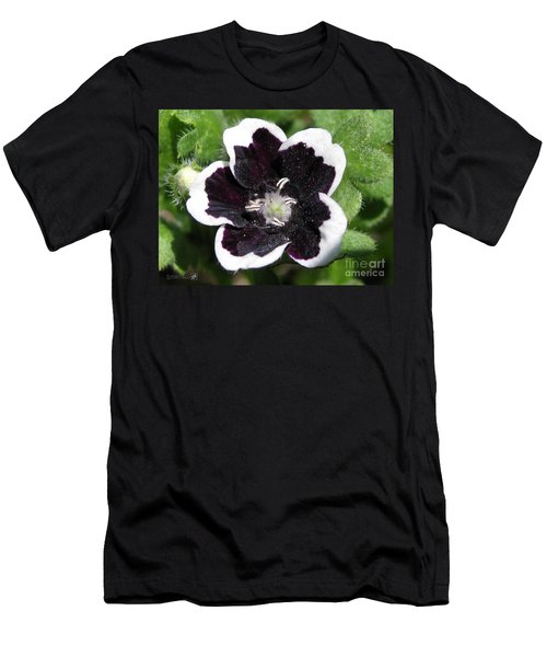 Men's T-Shirt (Slim Fit) featuring the photograph Nemophilia Named Penny Black by J McCombie