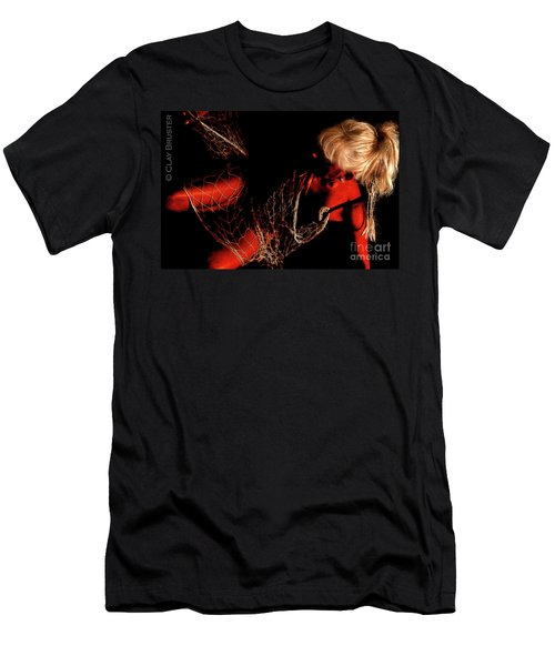 Men's T-Shirt (Slim Fit) featuring the photograph Netted A Red by Clayton Bruster