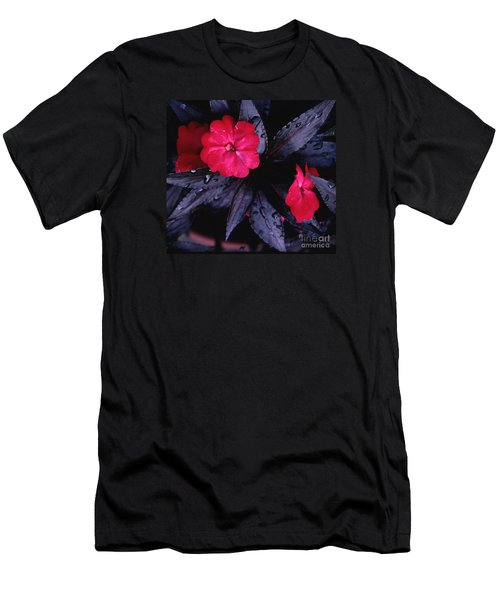 Men's T-Shirt (Slim Fit) featuring the photograph New Guinea Impatiens by Tom Wurl