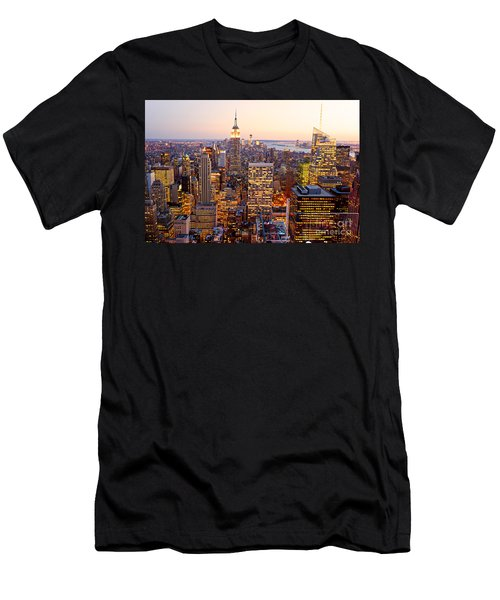 Men's T-Shirt (Slim Fit) featuring the photograph New York City by Luciano Mortula
