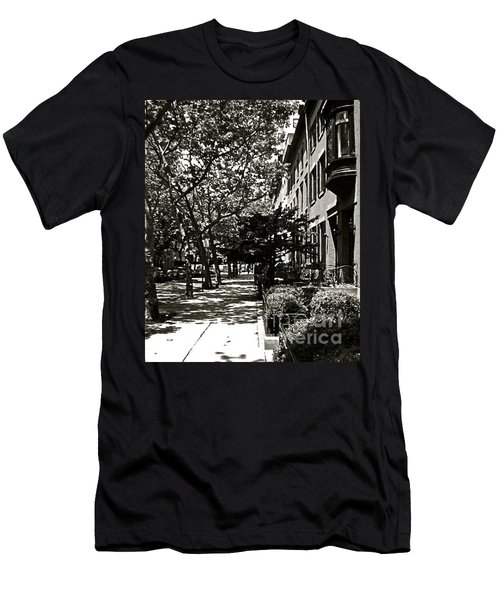 Men's T-Shirt (Slim Fit) featuring the photograph New York Sidewalk by Eric Tressler