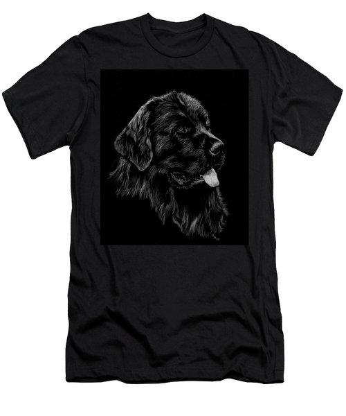Men's T-Shirt (Slim Fit) featuring the drawing Newfoundland by Rachel Hames