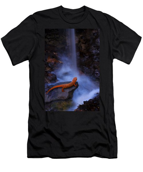 Newt Falls Men's T-Shirt (Slim Fit) by Ron Jones