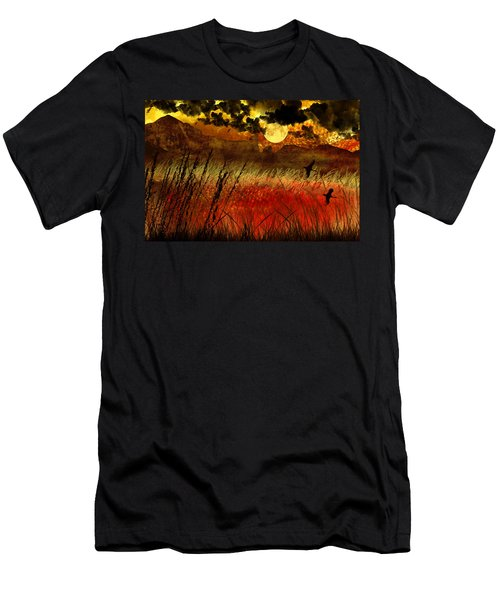 Night Falls Over The Land Men's T-Shirt (Slim Fit) by Ellen Heaverlo