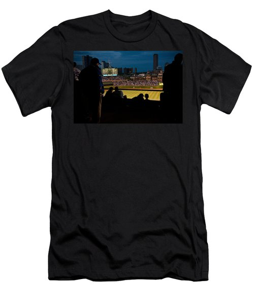 Night Game At Wrigley Field Men's T-Shirt (Athletic Fit)