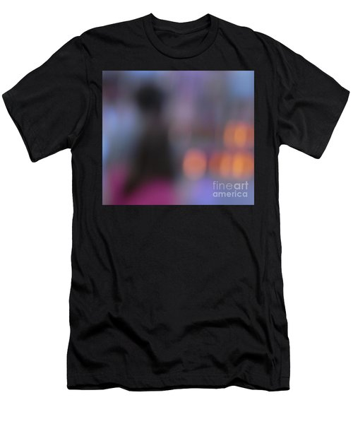 Men's T-Shirt (Slim Fit) featuring the photograph Imagine Nightfall At The Funfair by Andy Prendy