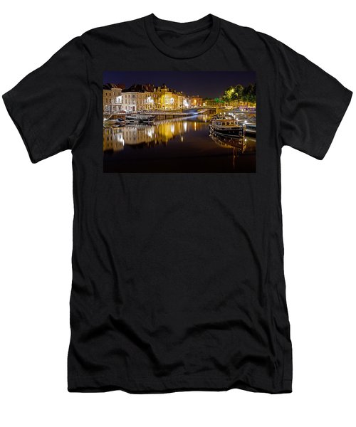 Nighttime Along The River Leie Men's T-Shirt (Athletic Fit)