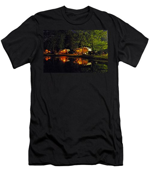Men's T-Shirt (Slim Fit) featuring the photograph Nighttime In The Campground by Kay Lovingood