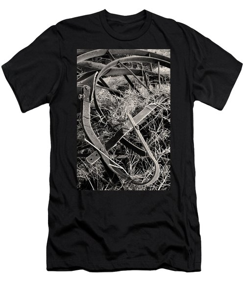 Men's T-Shirt (Athletic Fit) featuring the photograph No More Plowing by Ron Cline