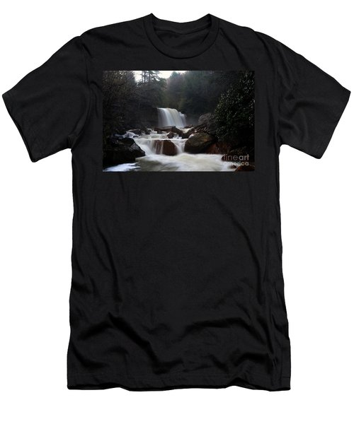Men's T-Shirt (Slim Fit) featuring the photograph North Forks Waterfalls by Dan Friend