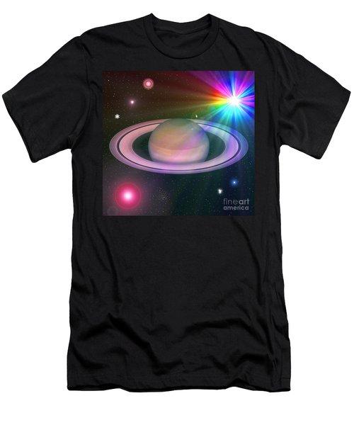 Men's T-Shirt (Slim Fit) featuring the digital art Nova Rainbow by Greg Moores