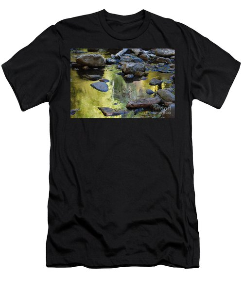 Men's T-Shirt (Slim Fit) featuring the photograph Oak Creek Reflection by Tam Ryan