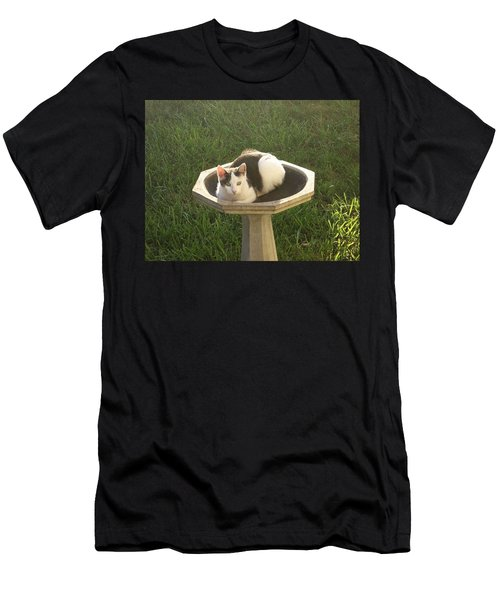 Occupied Bird Bath Men's T-Shirt (Athletic Fit)