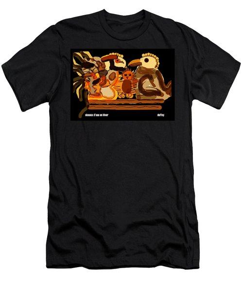 Oiseaux D'eau En Hiver Men's T-Shirt (Athletic Fit)