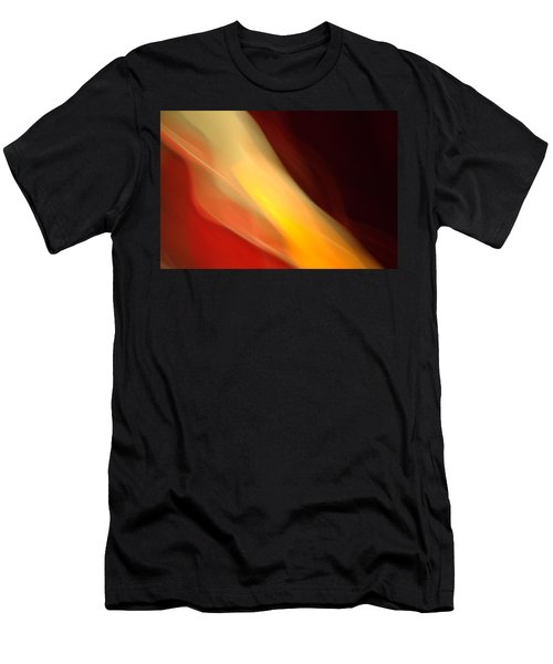 Men's T-Shirt (Slim Fit) featuring the mixed media O'keefe Iv by Terence Morrissey
