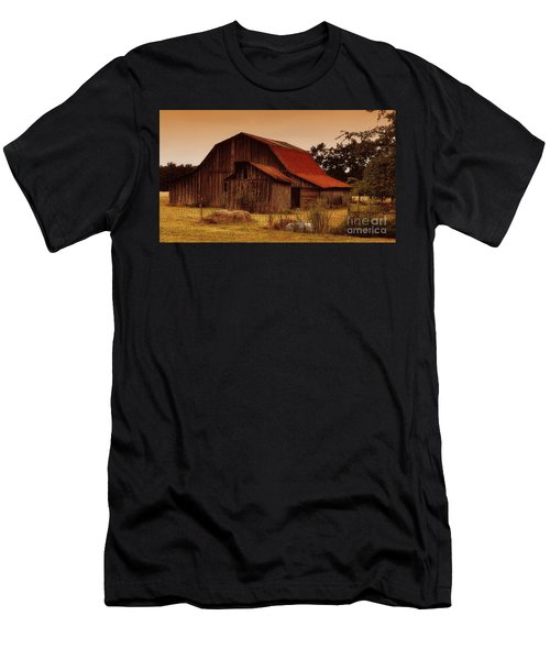 Men's T-Shirt (Slim Fit) featuring the photograph Old Barn by Lydia Holly