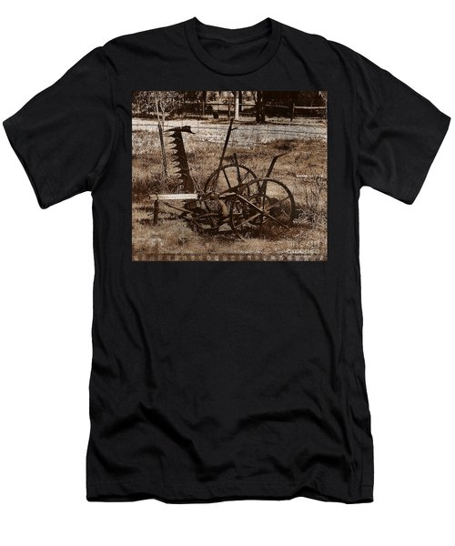 Men's T-Shirt (Slim Fit) featuring the photograph Old Farm Equipment by Blair Stuart