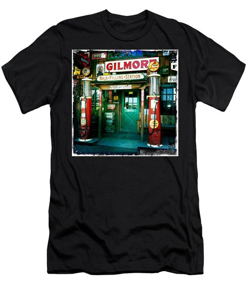 Old Fashioned Filling Station Men's T-Shirt (Athletic Fit)