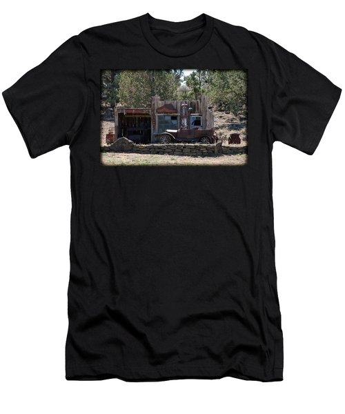 Men's T-Shirt (Slim Fit) featuring the photograph Old Filling Station by Athena Mckinzie