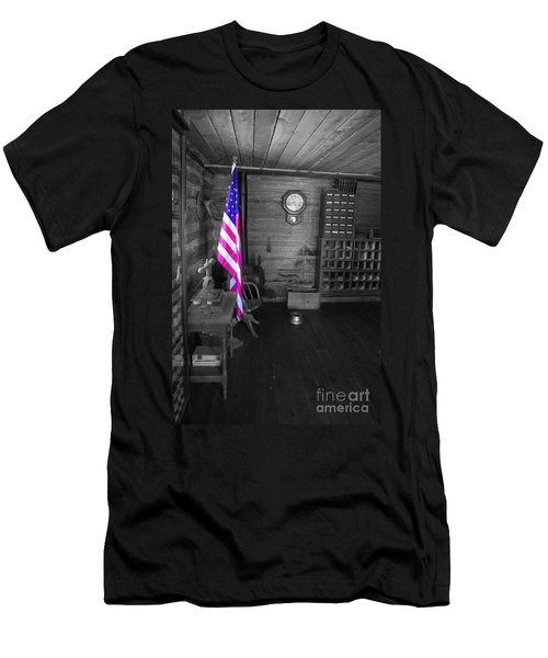 Men's T-Shirt (Slim Fit) featuring the photograph Old Glory by Deniece Platt