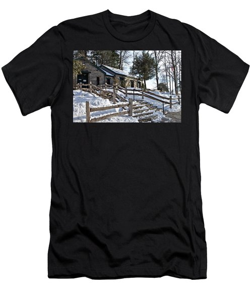 Old Rock Building  Men's T-Shirt (Athletic Fit)