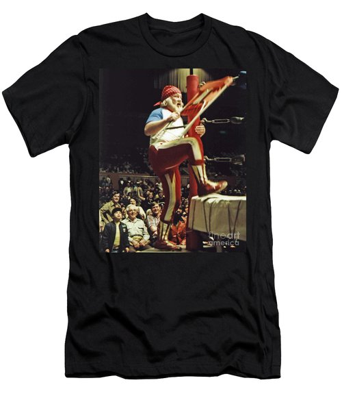 Old School Wrestling From The Cow Palace With Moondog Mayne Men's T-Shirt (Athletic Fit)