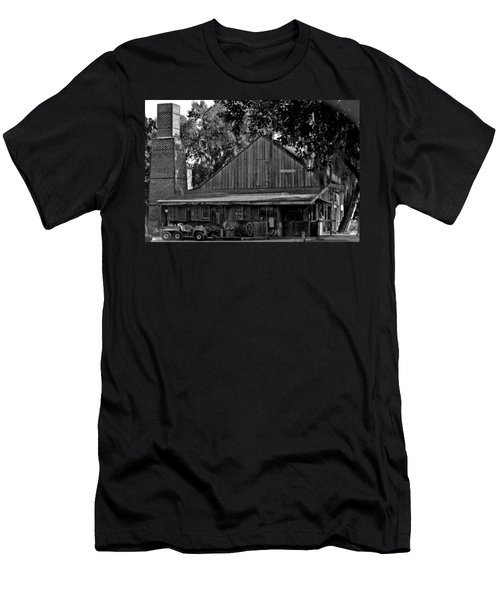 Men's T-Shirt (Slim Fit) featuring the photograph Old Spanish Sugar Mill by DigiArt Diaries by Vicky B Fuller