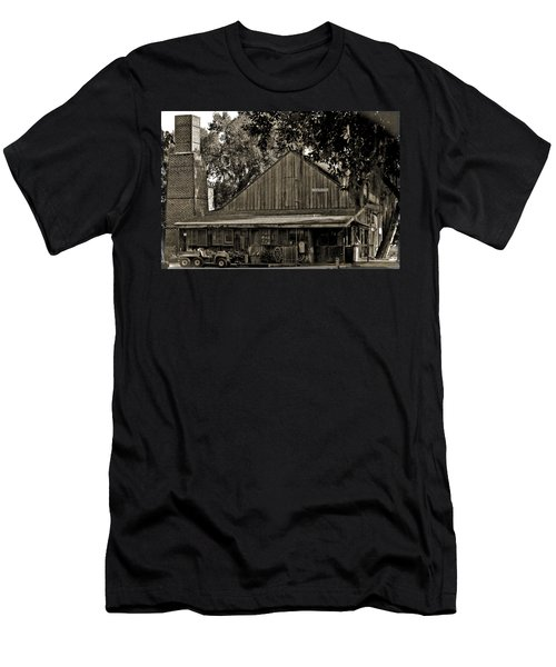 Men's T-Shirt (Slim Fit) featuring the photograph Old Spanish Sugar Mill Old Photo by DigiArt Diaries by Vicky B Fuller