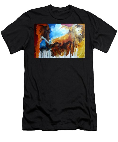 On Safari Men's T-Shirt (Slim Fit) by Keith Thue