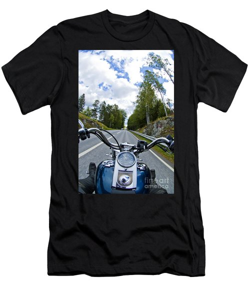 On The Bike Men's T-Shirt (Slim Fit) by Micah May