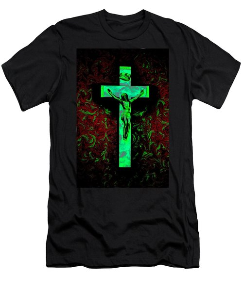 Men's T-Shirt (Slim Fit) featuring the photograph On The Cross by David Pantuso