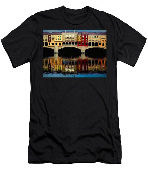 On The Lake Men's T-Shirt (Slim Fit) by Tammy Espino