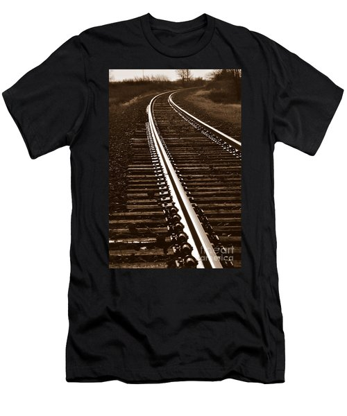 On The Right Track Men's T-Shirt (Athletic Fit)