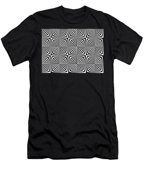 Optical Illusion Spots Or Stares Men's T-Shirt (Athletic Fit)