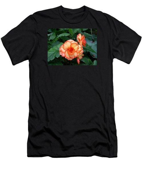 Men's T-Shirt (Slim Fit) featuring the digital art Orange Spectacular by Claude McCoy