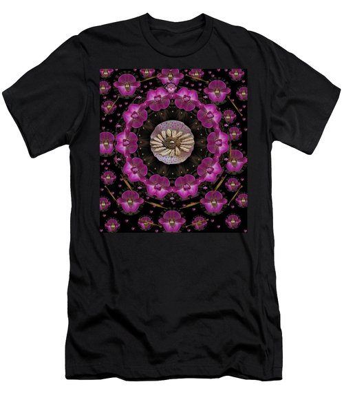 Orchids And Fantasy Flowers Men's T-Shirt (Athletic Fit)