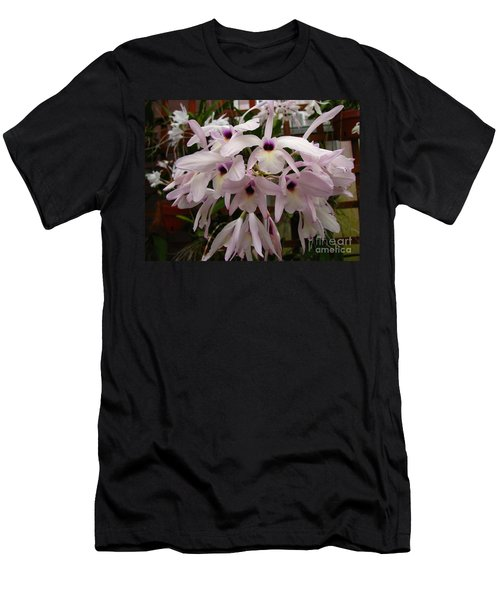 Men's T-Shirt (Slim Fit) featuring the photograph Orchids Beauty by Donna Brown