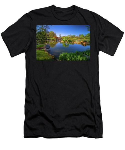 Osaka Garden Pond Men's T-Shirt (Athletic Fit)