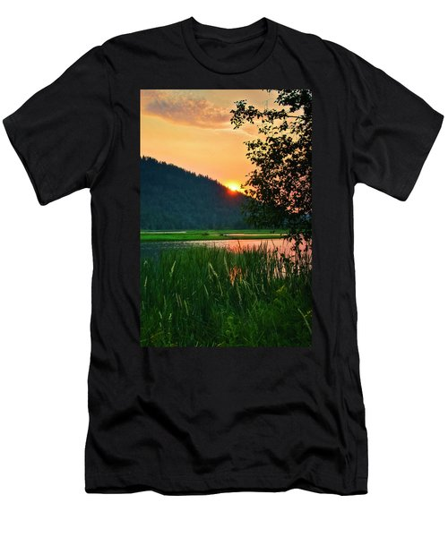 Pack River Delta Sunset 2 Men's T-Shirt (Slim Fit) by Albert Seger