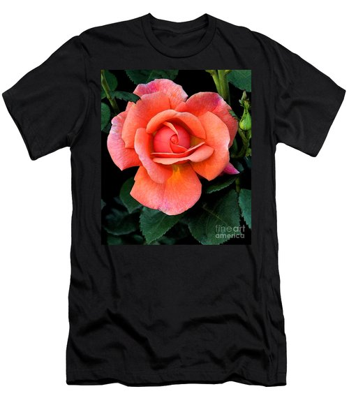 Painted Rose Men's T-Shirt (Slim Fit) by Cindy Manero