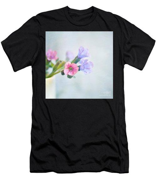 Pale Pink And Purple Pulmonaria Flowers Men's T-Shirt (Athletic Fit)