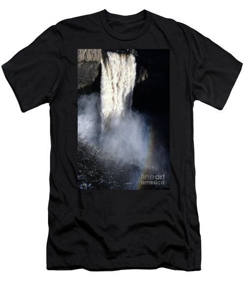 Men's T-Shirt (Slim Fit) featuring the photograph Palouse Falls by Sharon Elliott
