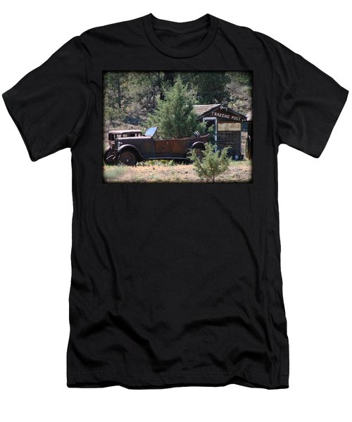 Parked At The Trading Post Men's T-Shirt (Slim Fit) by Athena Mckinzie